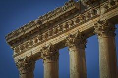 Tempel von Jupiter, Baalbek der Libanon Stockbilder