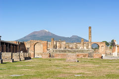 Tempel von Jupiter in Pompeji Stockbild
