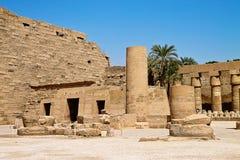 Tempel von Karnak Stockbilder