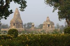 Tempel von Khajuraho stockfoto