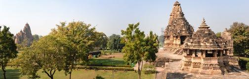 Tempel von Khajuraho auf Indien stockfotos