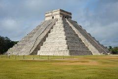 Tempel von Kukulkan, Pyramide in Chichen Itza, Yucatan, Mexiko Lizenzfreies Stockbild