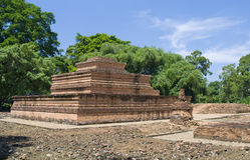 Tempel von Muara Jambi. Indonesien lizenzfreies stockfoto