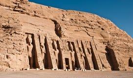 Tempel von Nefertari Stockbilder