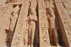 Tempel von Nefertari bei Abu Simbel, Ägypten stockbild