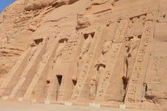 Tempel von Nefertari bei Abu Simbel, Ägypten Lizenzfreies Stockfoto