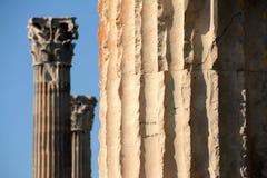Tempel von olympischem Zeusclassical; Zivilisation in Athen stockbilder