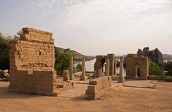 Tempel von Philae, Aswan stockbild