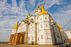 Tempel von Pochayiv Lavra während des Baus Lizenzfreie Stockbilder