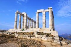 Tempel von Poseidon Stockfoto
