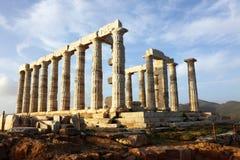 Tempel von Poseidon Stockfotos