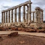 Tempel von Poseidon Stockfotografie