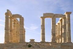 Tempel von Poseidon Stockbild