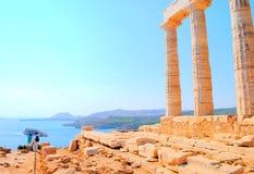 Tempel von Poseidon Lizenzfreie Stockbilder