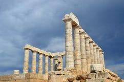 Tempel von Poseidon am Kap Sounion Attica Greece Stockfoto