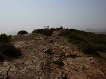 Tempel von Poseidon Sounion Attica Greece stockbilder
