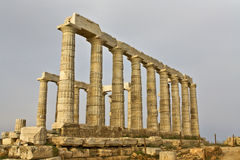 Tempel von Poseidon am Umhang sounio, Griechenland Stockbild
