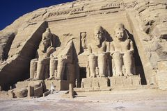 Tempel von Ramesses II bei Abu Simbel Stockfotos