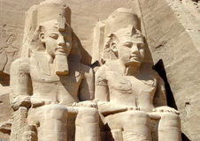 Tempel von Ramses II bei Abu Simbel, Ägypten Lizenzfreie Stockbilder