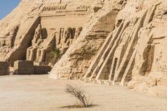Tempel von Ramses und Tempel von Nefertari, Abu Simbel, Ägypten Stockfotos