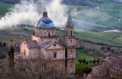 Tempel von San Biagio Stockfotografie