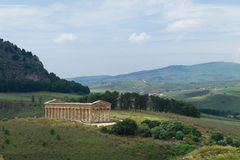 Tempel von Segesta in Sizilien Stockbilder