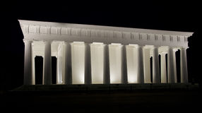 Tempel von Theseus in Volksgarten lizenzfreies stockbild