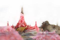 Tempel von unten Lizenzfreie Stockfotografie