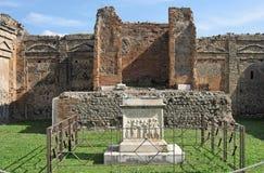 Tempel von Vaspian Pompeji Stockbilder