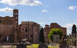 Tempel von Venus in Rom 3 lizenzfreie stockfotografie