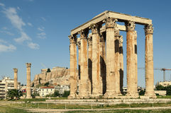 Tempel von Zeus, Athen Stockfotografie