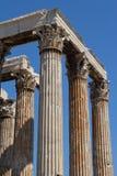 Tempel von Zeus in Athen, Griechenland Stockfotos