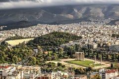 Tempel von Zeus in Athen, Griechenland Stockfotografie