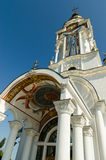 Tempel-vuurtoren St. Nicholas van Myra in het dorp Malorechen stock fotografie