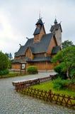 Tempel Wang i Karpacz Royaltyfri Fotografi