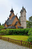 Tempel Wang i Karpacz, Polen Arkivbilder