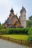 Tempel Wang in Karpacz, Polen Stockbilder