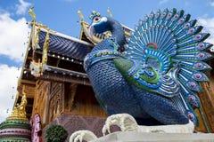 Tempel Wat Den Salee Sri Muang GanWat förbudhåla, Chiang Mai, Thailand Arkivbilder