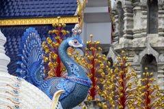 Tempel Wat Den Salee Sri Muang GanWat förbudhåla, Chiang Mai, Thailand Royaltyfri Bild