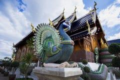 Tempel Wat Den Salee Sri Muang GanWat förbudhåla, Chiang Mai, Thailand Fotografering för Bildbyråer