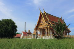 Tempel in Wat Khumkaeo Royalty-vrije Stock Fotografie