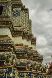 Tempel Wat Pho Old History, Thailand arkivfoton