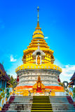 Tempel Wat Prathat Doi Saket Buddhas Thailand Stockfotos