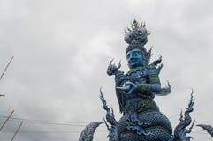 Tempel Wat Rong Suea Ten Rong Suea zehn oder blauer Tempel Lizenzfreie Stockfotografie