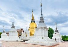 Tempel Wat Suan Dok in Chiang Mai; Thailand stockbild