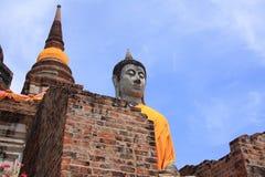 Tempel Wat Yai Chai Mongkol in Ayutthaya; Thailand Lizenzfreies Stockfoto