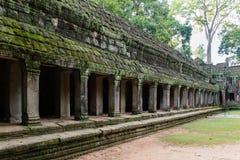 Tempel in wildernis - de tempel van Ta Prohm Stock Foto