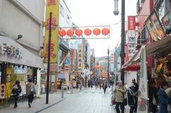 Tempel Yokohamas Chinatown Stockfotografie