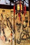 Tempel Yueyuan Shanghai Kina för gud för stad för Taoistgudlykta Arkivfoton