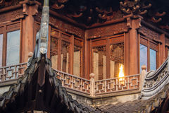 Tempel in Yuyuan-tuin, Shanghai Stock Afbeeldingen